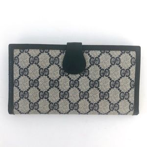 VINTAGE GG GUCCI TRIFOLD PLASTIC/LEATHER WALLET